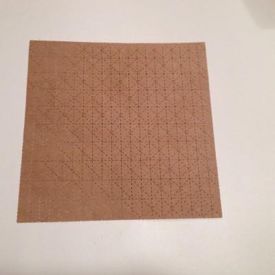 placa de mini protótipo cortada