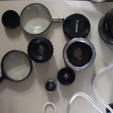 Testes de projeção com lentes e primeiros modelos do capacete